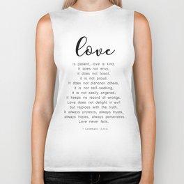 Love Never Fails #minimalism Biker Tank