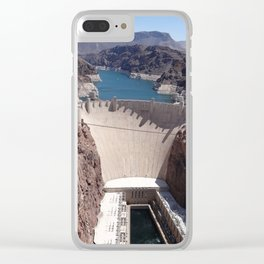 Hoover Dam Aerial View Clear iPhone Case
