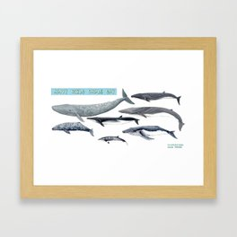 Happy world whale day Framed Art Print