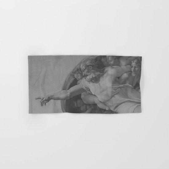 Black White Sistine Hand & Bath Towel