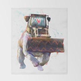 Dozer Bulldozer Throw Blanket