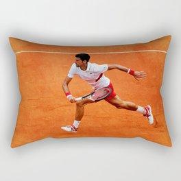 Novak Djokovic Running Rectangular Pillow