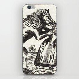 Werewolf attack Medieval etching iPhone Skin