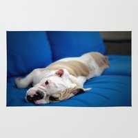 puppy Area & Throw Rugs featuring Puppy by brushnpaper