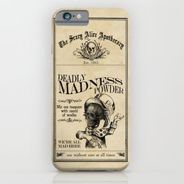 Scary Alice Apothecary - Mad Hatter iPhone Case