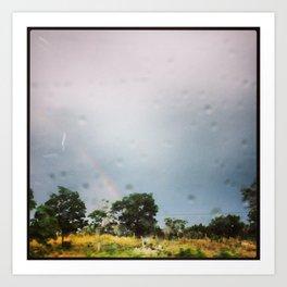HILL COUNTRY RAINBOW Art Print