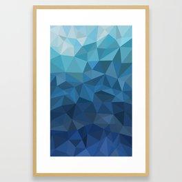 blue geometric Framed Art Print