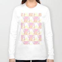 dangan ronpa Long Sleeve T-shirts featuring Dangan Ronpa - Monomi Sensei by MinawaKittten