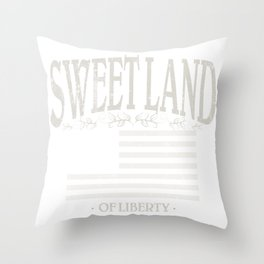 Sweet Land of Liberty | American Conservatism | Patriot - Vintage Throw Pillow
