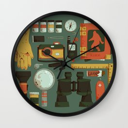 Cryptid Hunting Wall Clock