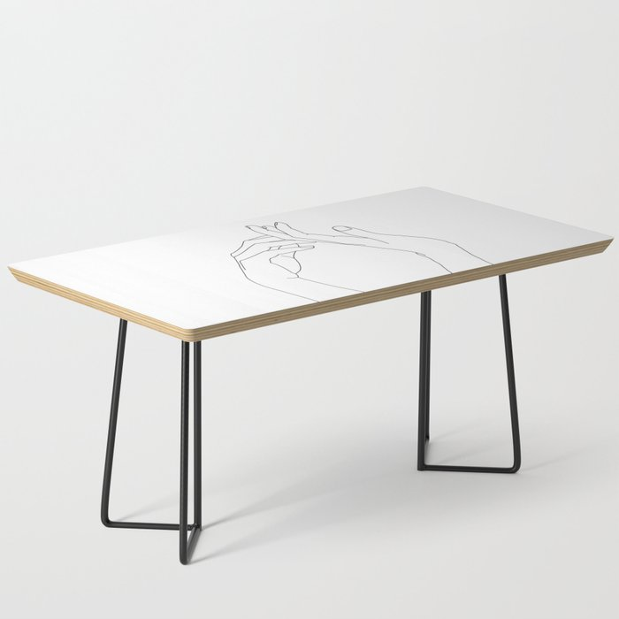 Hands line drawing illustration - Abi Coffee Table