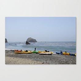 Canoes At Bodega Bay Canvas Print