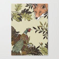 Fox & Pheasant Canvas Print