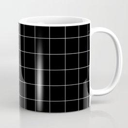 Windowpane Check Grid (white/black) Coffee Mug