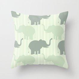 cute pastel elephant pattern Throw Pillow