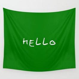 hello 11- dark green Wall Tapestry