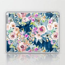 NAVY SO LUSCIOUS Colorful Watercolor Floral Laptop & iPad Skin
