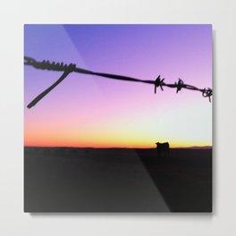 Cow vs Sunset Metal Print