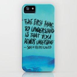 SØREN KIERKEGAARD iPhone Case