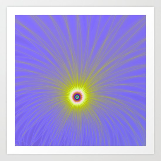 Color Explosion in Yellow and Blue Art Print