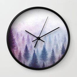 Ombre Woods Wall Clock