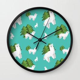 Alpacas pattern Wall Clock