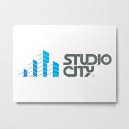 Studio City Metal Print