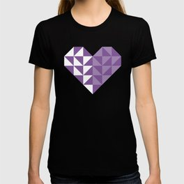 heart, polygons and love T-shirt