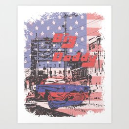 Big Daddy American Vintage Car Art Print