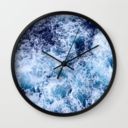 Sea Foam Wall Clock