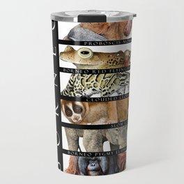 Animals of Borneo Travel Mug
