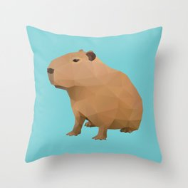 Capybara Polygon Art Throw Pillow