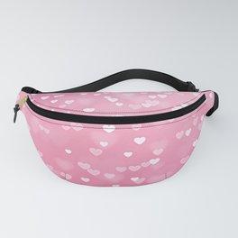 Pretty Pink Bokeh Love Hearts Fanny Pack