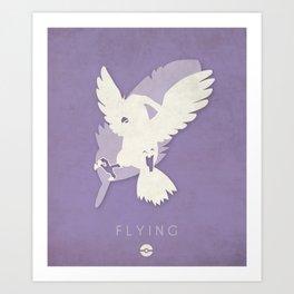 POKÉMON Flying Art Print