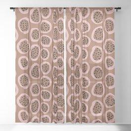 Raw brush minimal fruit garden abstract circle pattern Sheer Curtain