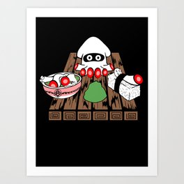 Super Blooper Sushi is what's for dinner Art Print