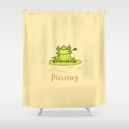 Piercing (Concept Funny Illustration) Shower Curtain