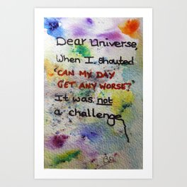 Dear Universe Art Print