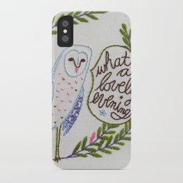 Owl in ferns iPhone Case