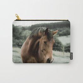 vintage horse animal painting art Carry-All Pouch