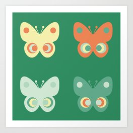 Pastel butteflies Art Print