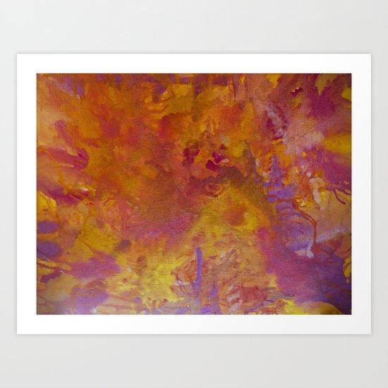 Rhubarb and custard wars Art Print