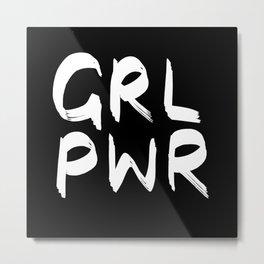 GRL PWR (invert) Metal Print