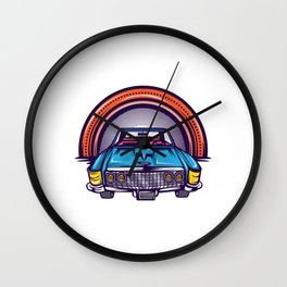 Are You A Vintage Person? Car Lover? Here's A Detailed Design Of  Muscle Car T-shirt Design Wall Clock