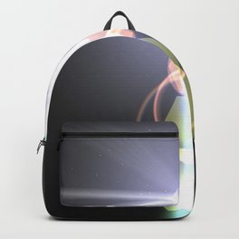 close to the moon lens flare Backpack