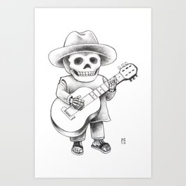 The mariachi Art Print