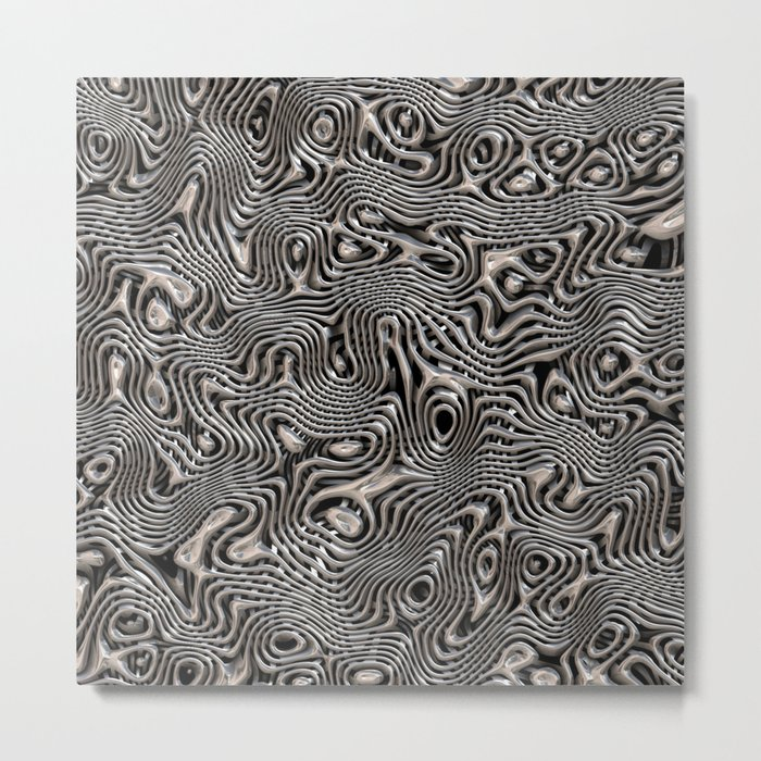 Chrome Chaos Metal Print
