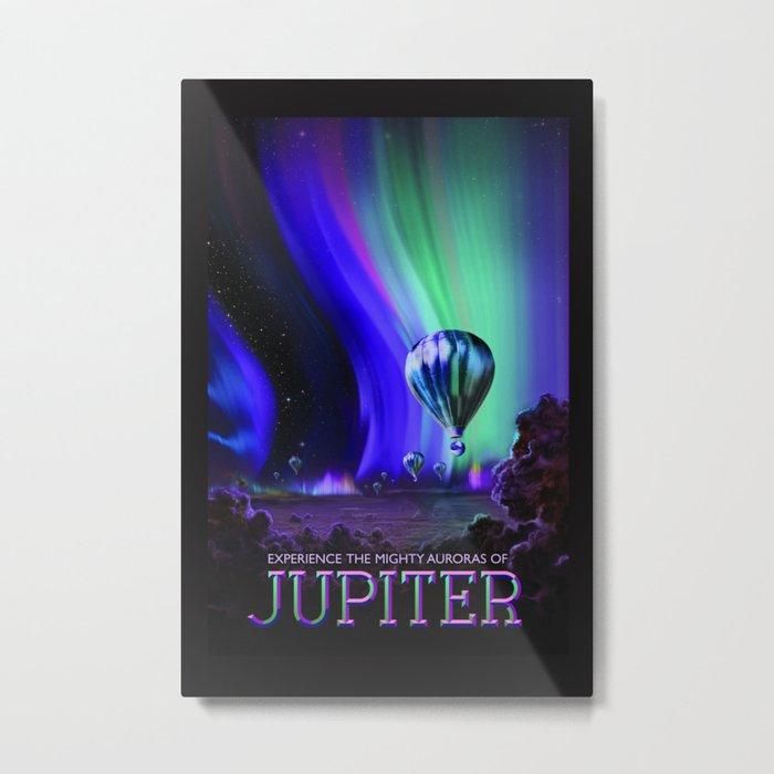 NASA Jupiter Planet Retro Poster Futuristic Best Quality Metal Print