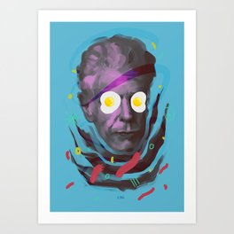 Chef Anthony, POP art style, digitally painted Art Print