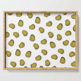 Pickled cucumbers - pattern Serving Tray